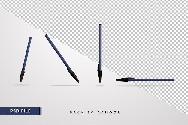 Klasyczny długopis powraca do szkolnej koncepcji 3d