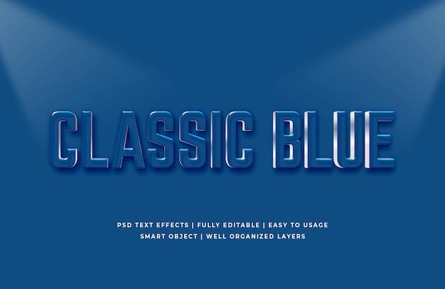 Klasyczny niebieski kolor efektu tekstowego roku 2020