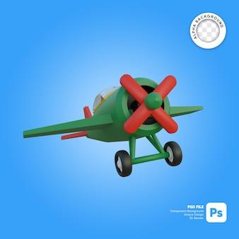 Klasyczny samolot w locie obiektu 3d