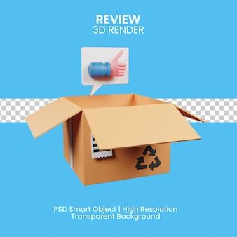 Klient ocenia produkt sprzedawcy. ikona 3d
