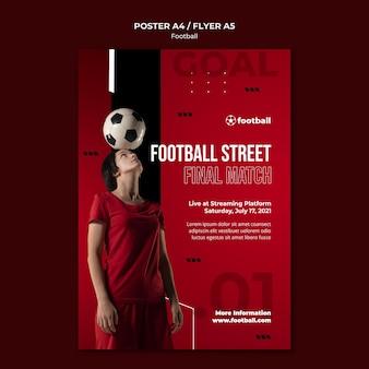 Kobiecy szablon nadruku piłki nożnej