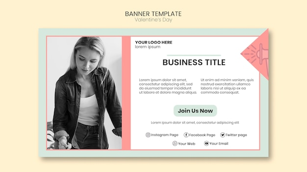 Kobieta biznesu szablon transparent