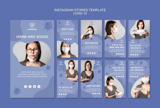 Kobieta ma na sobie maski instagram historie