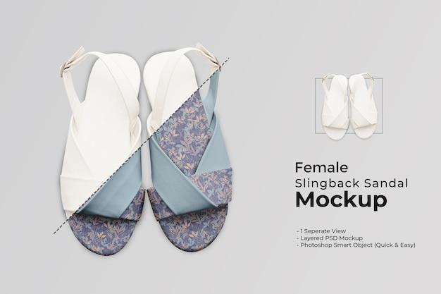 Kobieta-sandały-sandały-makieta