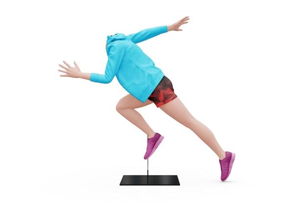 Kobieta sporta stroju egzamin próbny odizolowywający