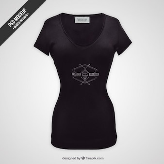 Kobieta t-shirt makieta