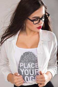 Kobieta t-shirt mock-up