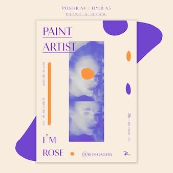 Kocham twój szablon plakatu sztuki