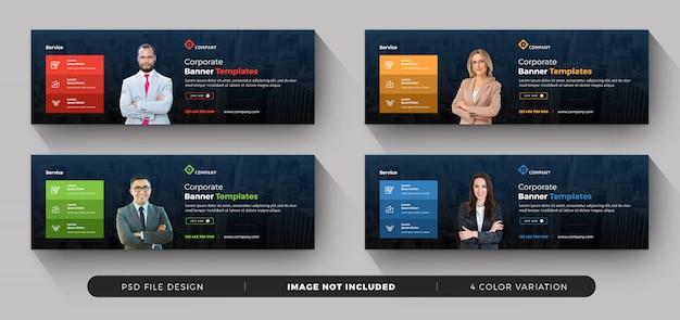 Kolekcja banerów biznesowych