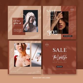 Kolekcja banerów moda post