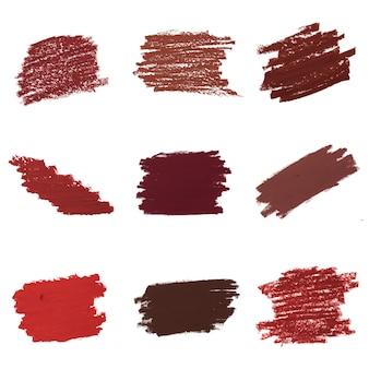 Kolekcja czerwona szminka tło