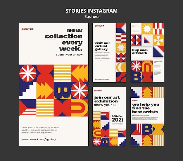 Kolekcja historii biznesu na instagramie