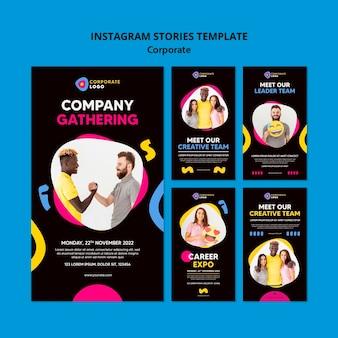 Kolekcja historii na instagramie dla kreatywnego zespołu korporacyjnego