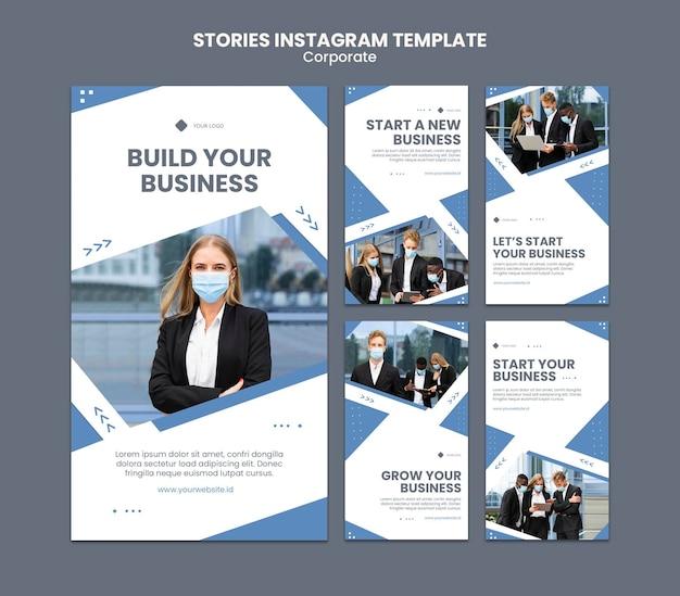 Kolekcja historii na instagramie dla profesjonalnego biznesu