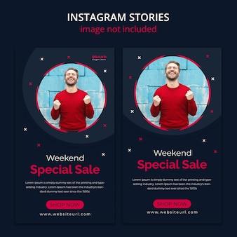 Kolekcja moda sprzedaż transparent projekt dla dynamicznego nowoczesnego szablonu historie mediów społecznościowych