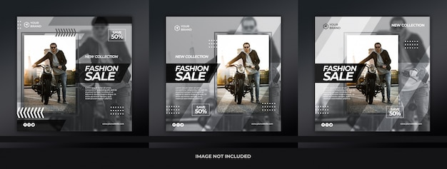 Kolekcja mody szablon