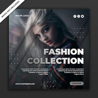 Kolekcja mody w szablonie post mediów społecznościowych