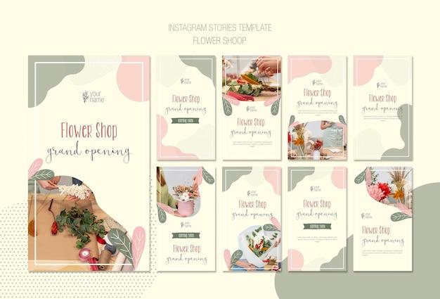 Kolekcja opowiadań instagram w kwiaciarni