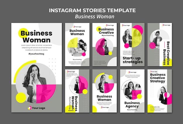 Kolekcja opowiadań na instagramie dla bizneswoman