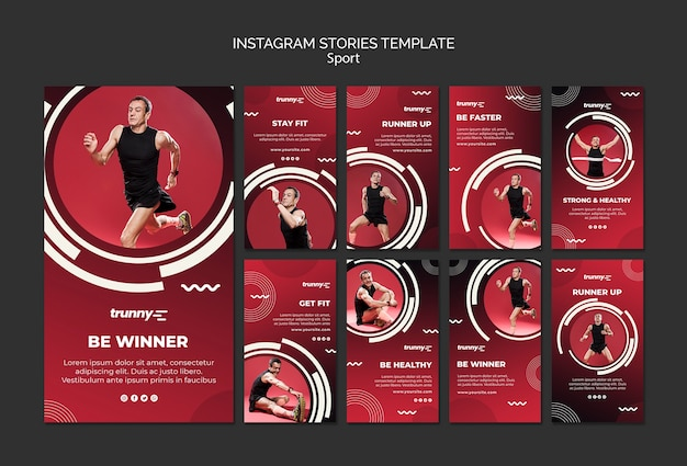 Kolekcja opowiadań na instagramie dla fitnessu