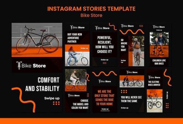 Kolekcja opowiadań na instagramie dla sklepu rowerowego