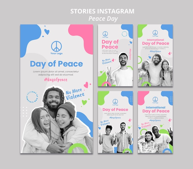 Kolekcja opowiadań na instagramie na międzynarodowe obchody dnia pokoju
