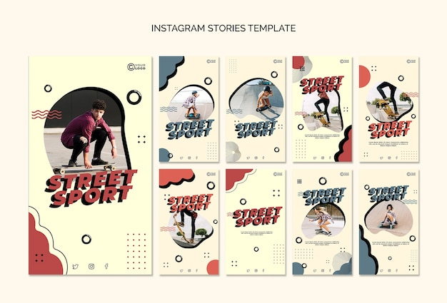 Kolekcja opowiadań na instagramie street sport