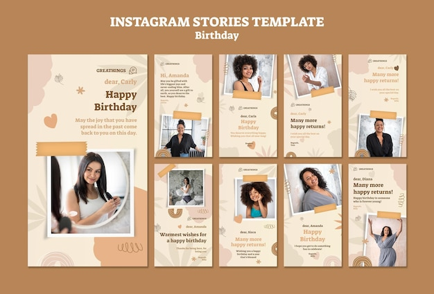 Kolekcja opowiadań na instagramie z okazji urodzin