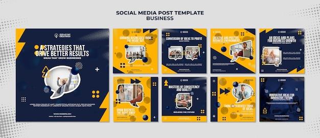 Kolekcja postów na instagramie dla biznesu