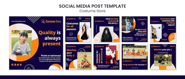 Kolekcja postów na instagramie do kostiumów na halloween