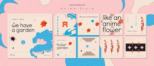 Kolekcja postów na instagramie do ogrodu kwiatowego