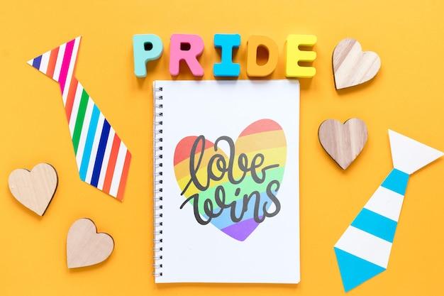 Kolekcja pride day z notatnikiem