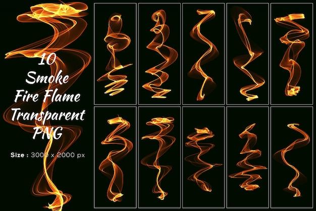 Kolekcja smoke fire flame transparent