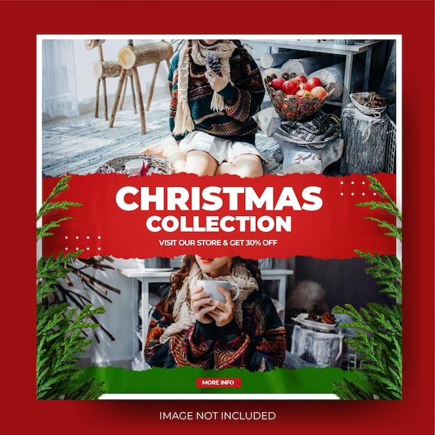 Kolekcja świąteczna moda wyprzedaż instagram post feed