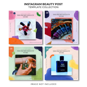Kolekcja szablonów banner beauty instagram.
