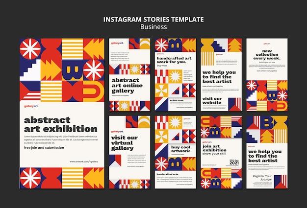 Kolekcja szablonów historii biznesu na instagramie
