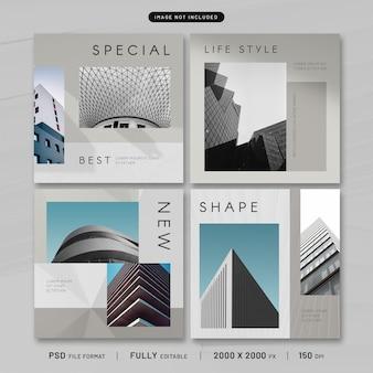 Kolekcja szablonów post architektury