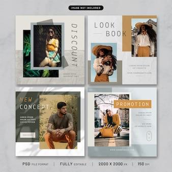 Kolekcja szablonów post mody