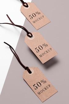 Kolekcja tagów makiet odzieży