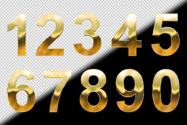Kolekcja złotych cyfr