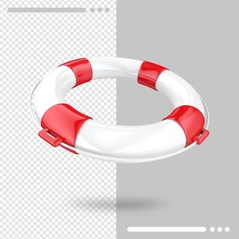 Koło ratunkowe renderowania 3d na białym tle