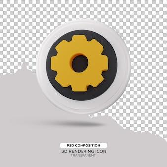 Koło zębate 3d render ikona znak