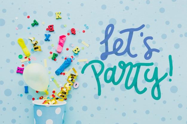 Kolorowe balony urodzinowe z konfetti
