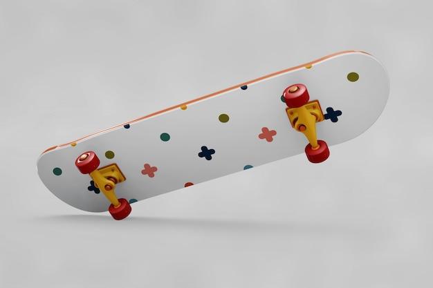 Kolorowe łyżwy makieta