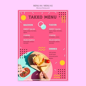 Kolorowe menu restauracji meksykańskiej