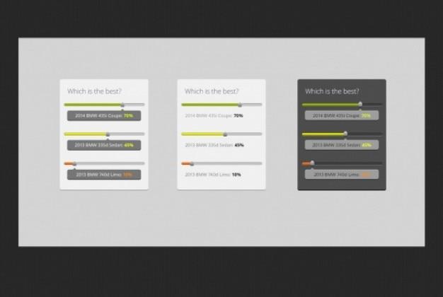 Kolorowe poll z paskami postępu