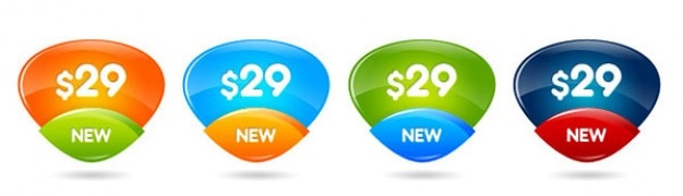 Kolorowe przyciski do specjalnych cen lub ofert