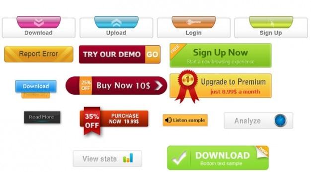 Kolorowe przyciski i zniżki na zakupy