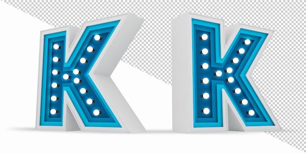 Kolorowy alfabet żarówka billboard