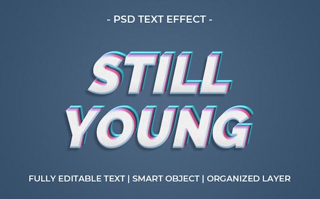 Kolorowy efekt jeszcze młody tekst efekt szablonu